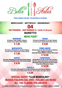 bella italia 2019 pizze