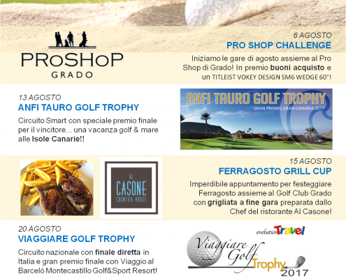 Golf a Grado i nostri eventi in agosto!