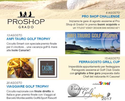 Golf a Grado i nostri eventi in agosto!